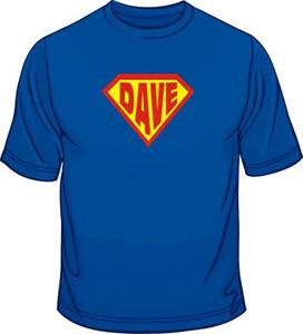 Your Name Printed In Super Hero Emblem Mens Loose Fit Cotton T-Shirt