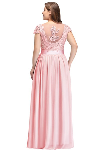 BeiBao Pink Long Bridesmaid Dresses 2019 Sleeveless Ruched Floor Length Wedding Guest Maid Of Honor Dresses