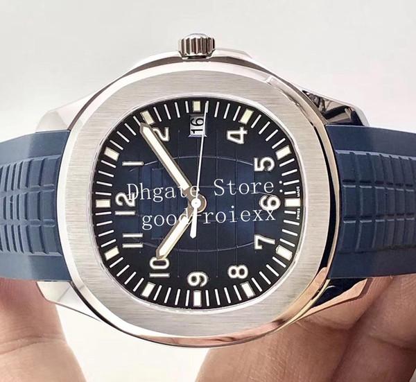 Top Luxury 40mm Orologio da uomo Mens Automatic Watches Uomo Cal.324SC Grigio Black Blue Dial 5167 Eta Rubber Strap Aquanaut Orologio da polso meccanico