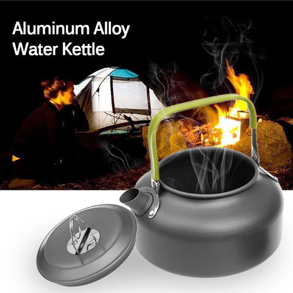 Ultraléger eau Bouilloire Pot Camping Teapot en alliage d'aluminium Bouilloire Cafetière Vaisselle Batterie de cuisine pour pique-nique Camping randonnée en plein air