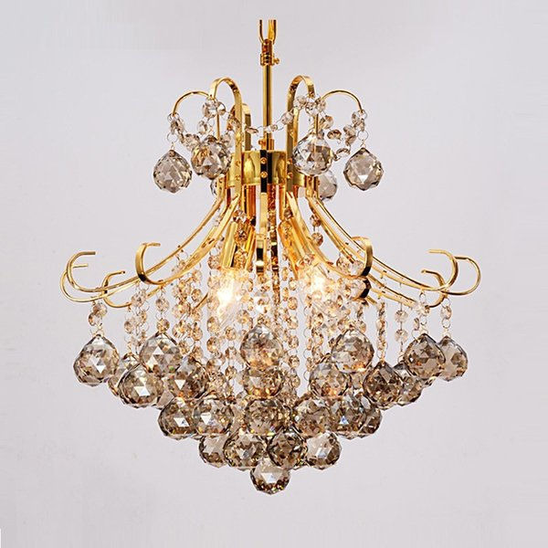 Modernes Silber / Gold Transparent / cognic Kristallleuchter lustres de cristal Innenleuchten Kristallanhänger-Wohnzimmer-Lampe