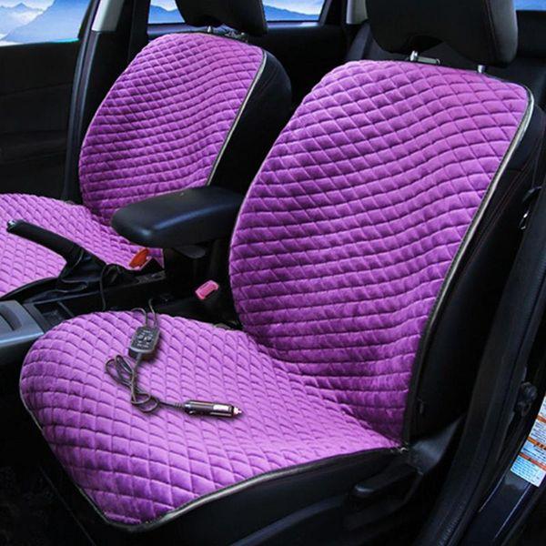 Cojín de asiento de coche Almohadilla de calefacción eléctrica de invierno de 12V Almohadilla de calefacción eléctrica de fibra de carbono Infrarrojo lejano Cojín de asiento de calefacción caliente