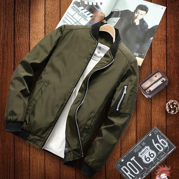 2019 Yeni Japonya Tarzı Rahat Bombacı Ceket Erkekler Hip Hop Beyzbol Erkek Ceketler Coat Moda Ceket Pürüzsüz Ceket Streetwear SH190810