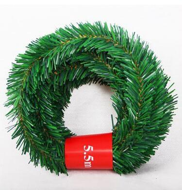 Artificial Christmas Garland.5 5m Pine Christmas Garland Decorative Green Christmas Garland Artificial Xmas Tree Rattan Banner Decoration Only Green Animated Christmas Decorations