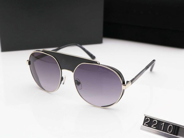 lujo polorized diseñador de gafas de sol gafas de sol de marca específicamente para los hombres y las mujeres para crear siete 2210 de alta calidad Una lente
