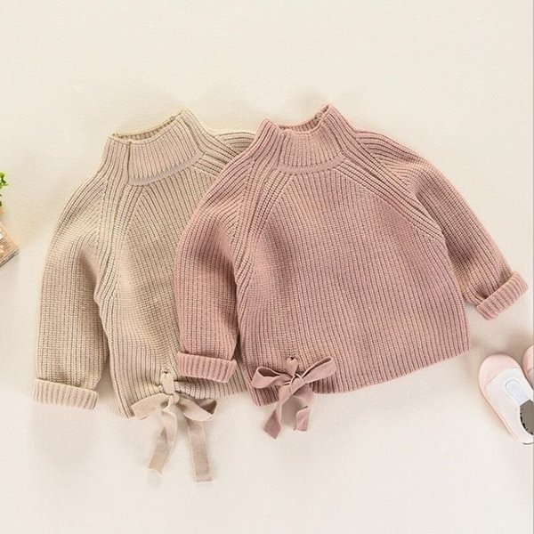 New Baby Toddler Girls Sweaters 2018 Winter Warm Children's Long Sleeve Knit Clothes Kids Turtleneck Sweater For Fall