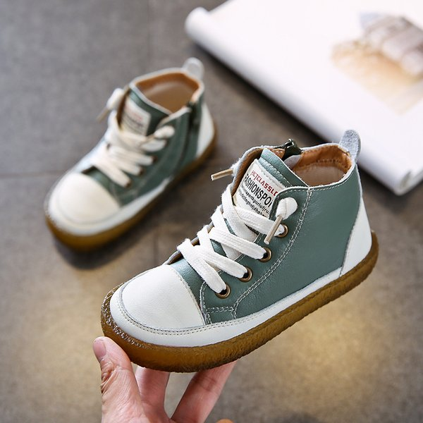 New Winter Children Boots for Boys Ankle Martin Boots Girls Snow Genuine Leather Fashion Cotton Warm Waterproof Kids Shoes