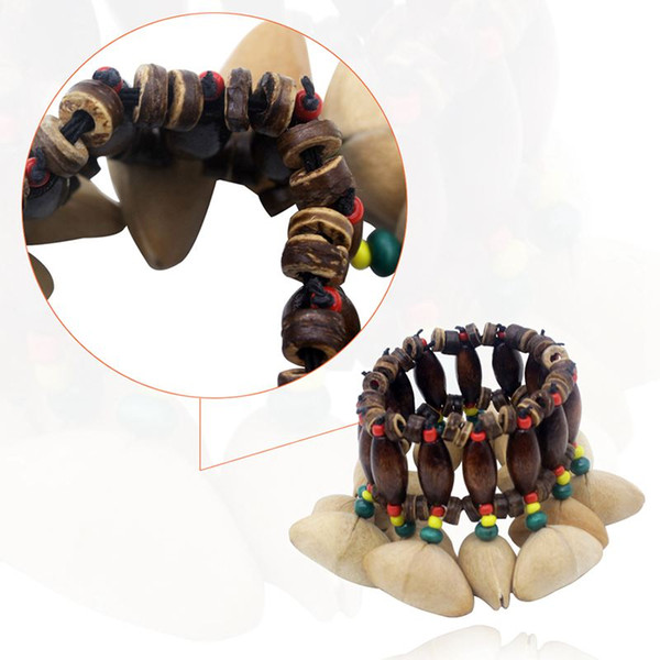 best selling Handmade Nuts Shell Bracelet Handbell for Djembe African Drum Conga Percussion Accessories