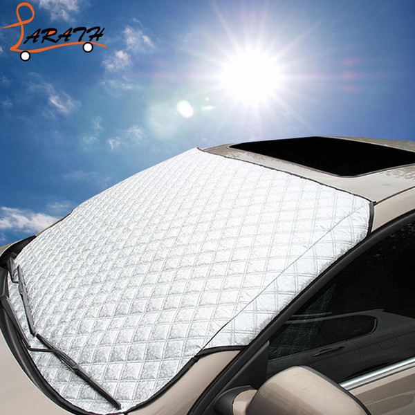 larath practical car windshield cover pe heat sun shade anti snow frost ice dust cover auto window mirror protection cws5732