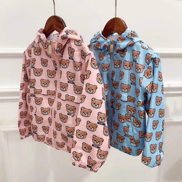 printemps Bébés filles Veste Ours d'automne veste pour les filles Trench Coat-vêtement pour enfants pour les filles coupe-vent Vêtements pour enfants