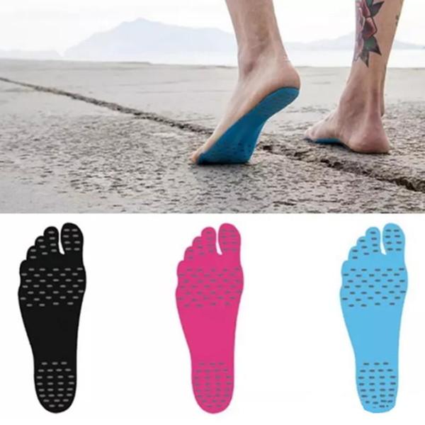 Pés Adesivo Proteção Adesiva Não-Slip Stick em Solas Almofadas de Pé Flexíveis Meia Calor Invisível Descalço Sandy Shoes Praia À Prova D 'Água