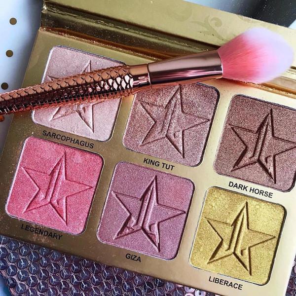Marke Shimmer Lidschatten 24 Karat Pearly Lidschatten 6 Farben Helle Farbe Glitter Lidschatten Make-up-Palette
