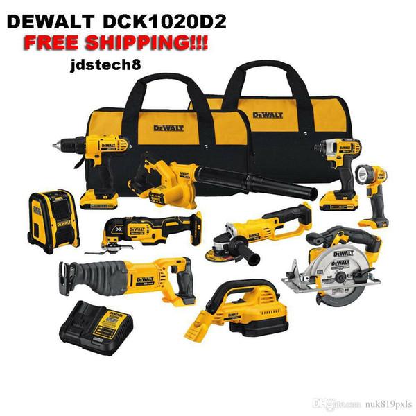 Dewalt 20v max 10 tool combo kit brand new