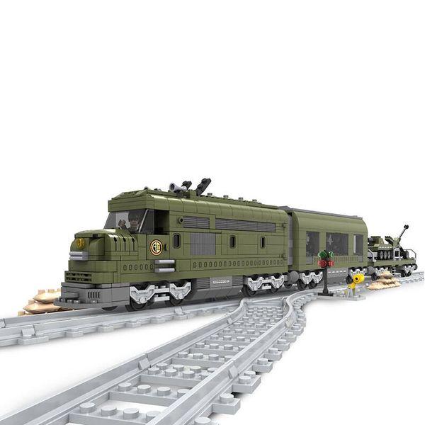 Ausini Trem Militar Building Block Bricks Set 764 pcs Construção Trem Série 25003 Technic toys for children