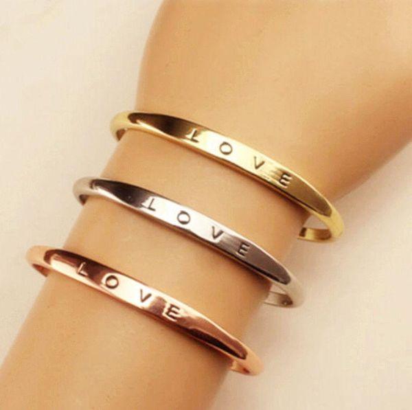 Fashion women's gold / silver / rose gold plated LOVE bracelet jewelry charm bracelet bracelet gift fashion jewelry WCW101