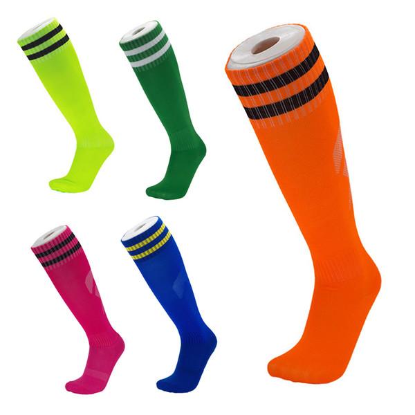 Towel Bottom Football Socks Long Stockings High Knee Sock Wear-Resistant Walking Running Jogging For Kids Adults High Quality M116Y