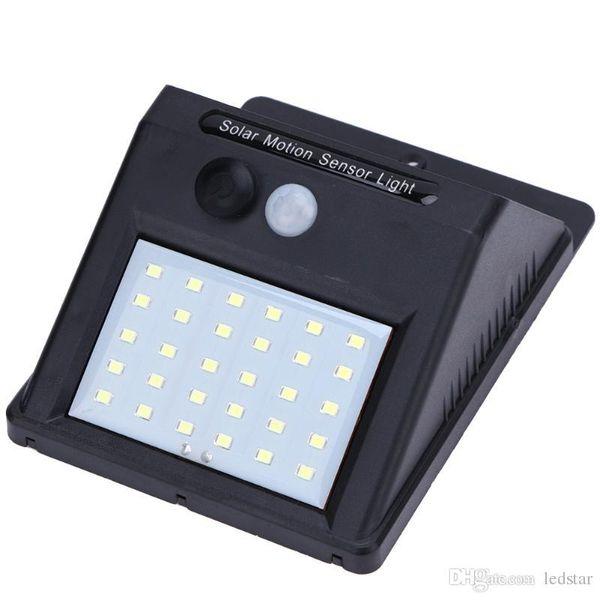 LED sensor del panel solar impermeable LED Luz solar de la energía del movimiento de PIR Luz de jardín al aire libre Camino Sentido luz solar lámpara de pared