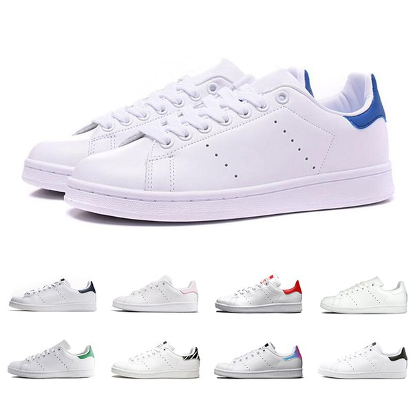 top popular designer shoes Stan men women smith casual shoes white black green green red fashion sport shoes leather flat sneakers [Without Box] 2020