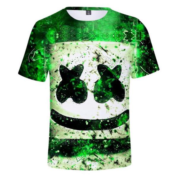 Marshmello Mens T-shirts 3D Digital Gedruckt Kurzarm Mode Frauen T-shirts Jugendliche Mädchen Designer Sommer Tees