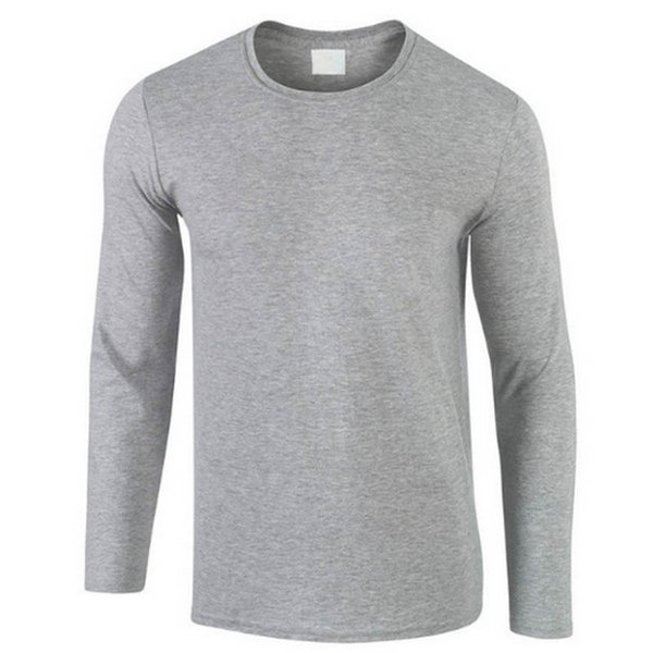 2018 Autumn New 100% Cotton T SHIRT Men, Ultra Low Price Long Sleeved Men's Tshirt High-Quality O-Neck Pure Color Lovers T-shirt