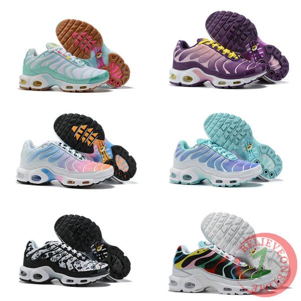 Acheter 2019 Date Tn Femmes Chaussures De Course Multicolore Designer  Chaussures Chaussures Zapatillas Hombre Tns Femme Sport Baskets Baskets  Taille ...