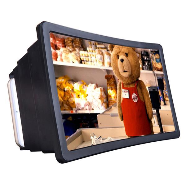 Teléfono de pantalla 3D Lupa Lupa teléfono inteligente, la cámara ampliada Amplificador móvil Soporte Holder BT obturador alejado para Smartphone