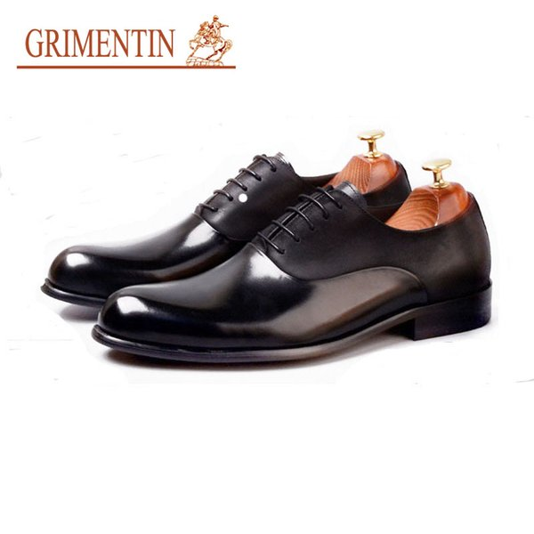 GRIMENTIN Summer Italian fashion designer dress mens formal shoes hot sale men oxford shoes genuine leather business wedding male shoes AST