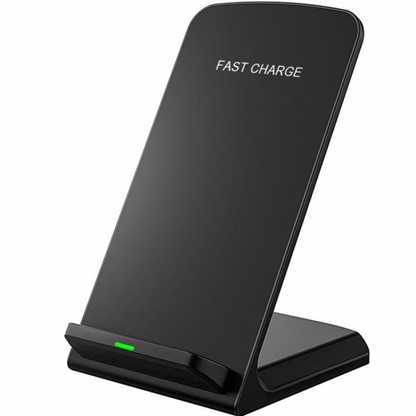 2 Coil 10W Wireless Charger Fast Qi Wireless charging bracket pads for Apple iPhone X 8 8Plus Samsung Note 8 S8 S7 all Qi capable smartphone