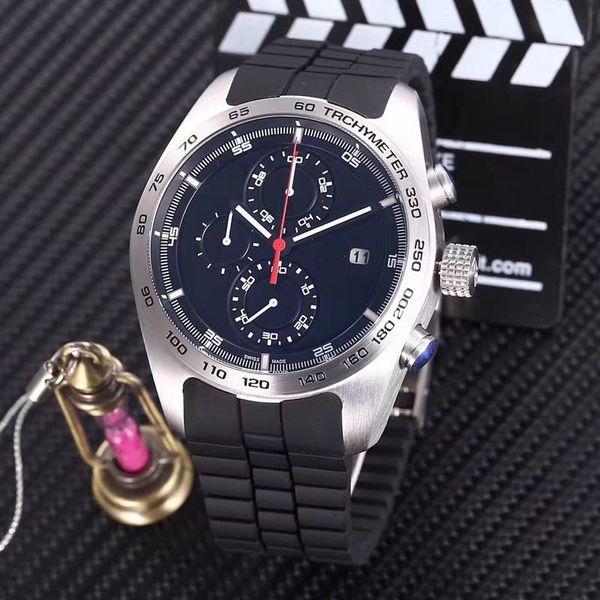 Hot sale sport watch for man quartz stopwatch top sell chronograph watches rubber bracelet wrist watch pd01