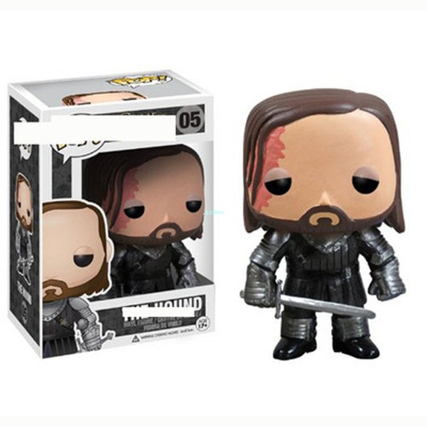 Q Version Creative POP Game of Thrones Sandor Clegane Hound Birthday Gift Art Craft Exquisite PVC Action Collectible Model Toy 10CM BOX G523