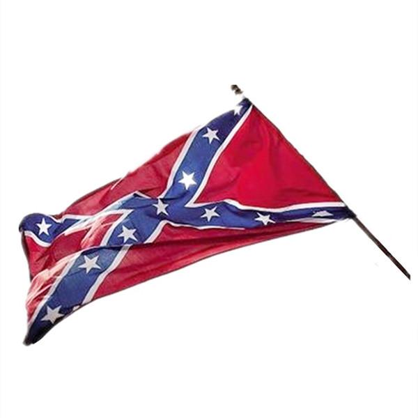 nuevoConfederate Battle Flag Bandera de dos lados Bandera impresa Confederado Rebelde Bandera de la Guerra Civil Americana Poliéster América Banderas nacionales FestiveT2I5340