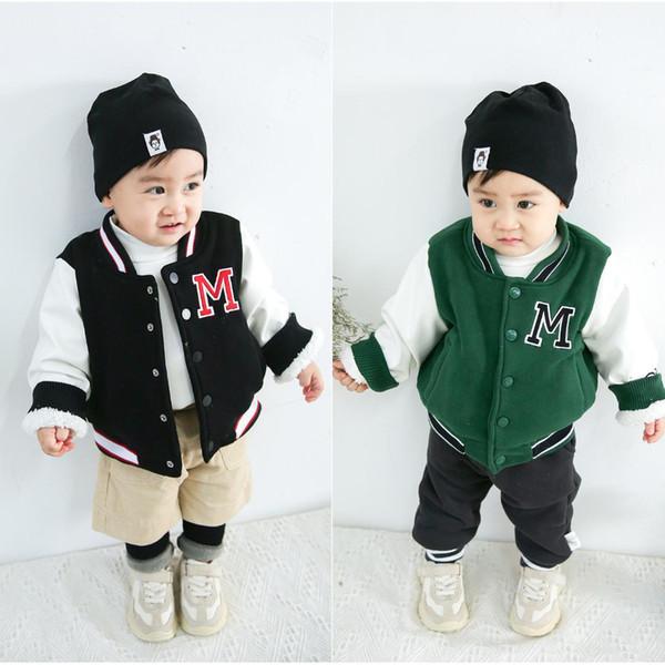 Baby Coat Girl Winter 2018 New Arrive O-Neck Sports Coat For Children Fashion Baseball Print Letter Winter Jackets for Boy