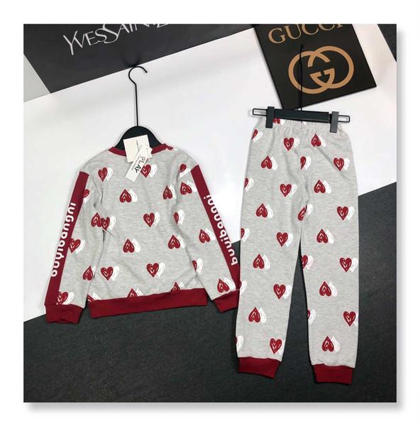 2019 nouveau costume de haute qualité à manches longues deux pièces pour enfants190803 # 18
