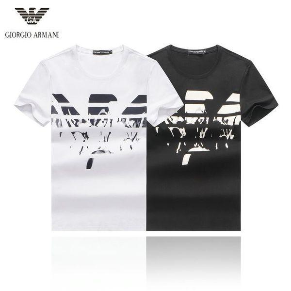 Erkek T-Shirt Yeni Yaz Moda Rahat Spor Kısa Kollu T-Shirt Rahat Nefes Vahşi Kartal Baskı T-Shirt