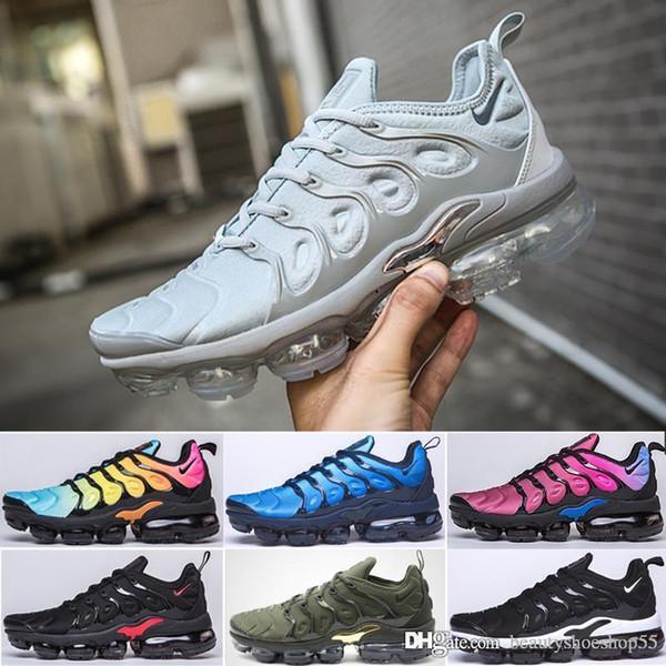 nike Vapormax Tn plus air max airmax États-Unis Jeu Royal TN Plus Designer Sneaker Chaussures De Course Triple Noir Blanc Volt Violet Sliver Dégradé Hommes Femmes ALUMINIUM Sunset