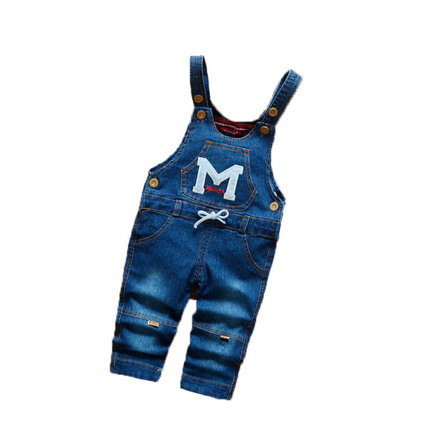 good quality Spring Autumn Baby Boys Girls Cartoon Bib Pants Infant Children Denim Overall Trousers Toddler Jumpsuits Pants Clothes