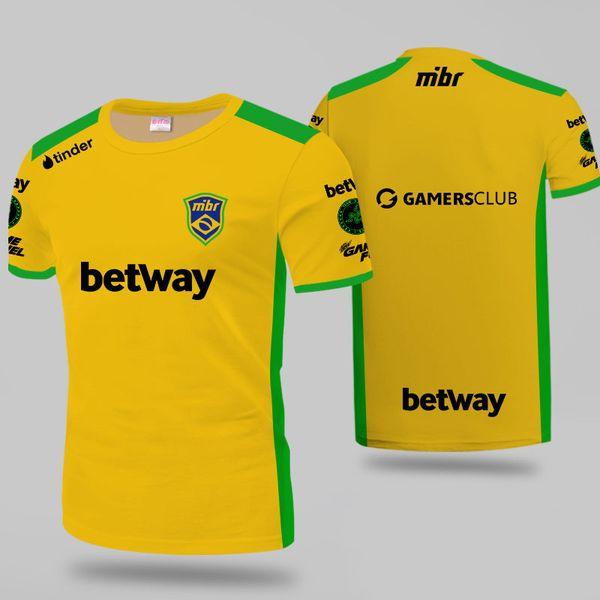 Tsingyi 2019 MIBR Jersey ZEWS Fans T-Shirt Uomo Donna Magliette Major Custom ID Tee Shirt Homme