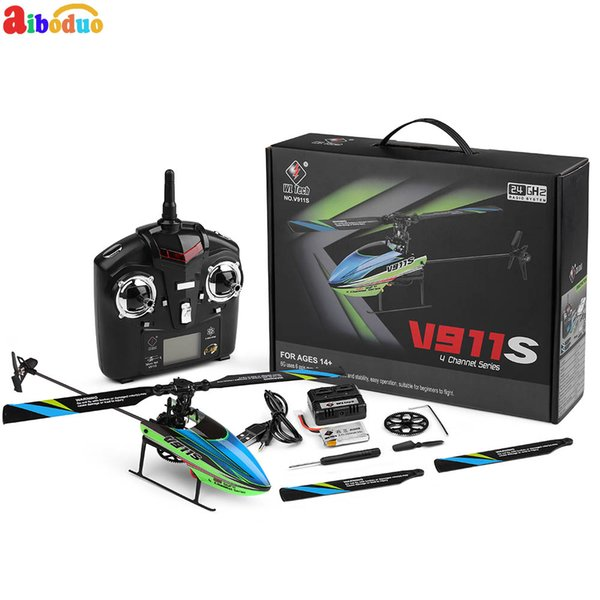 AIBODUO V911S Aircraft 2.4G 4CH Remote Control RC Helicopter Single Propelller Remote Controller Kid Gift Toys RTF Upgrade 7PCS