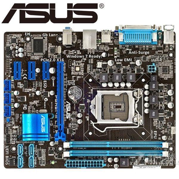 Asus P8H61-M LX PLUS для настольных ПК H61 Разъем LGA 1155 i3 i5 DDR3 16G uATX UEFI BIOS Оригинальный Используется материнская плата