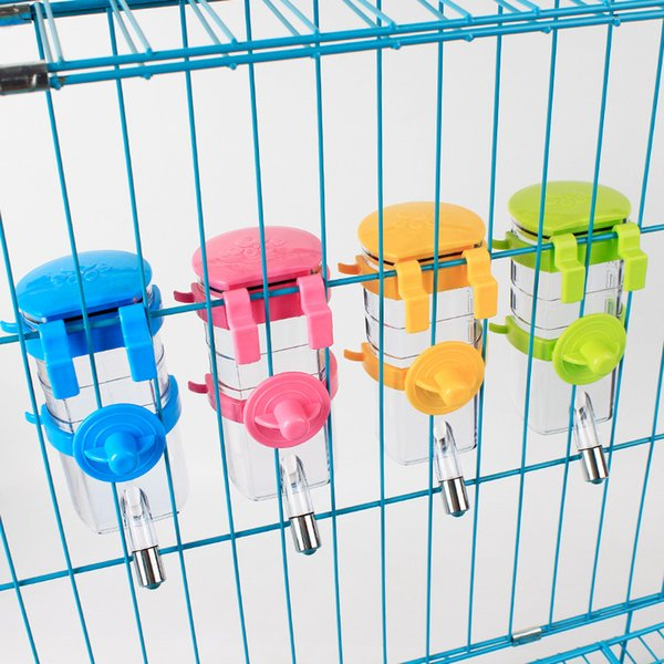 Pet Dog cage can be hanging water drinking 350ml Drinking fountains device automatically Drinking Pet Supplies easy to carry