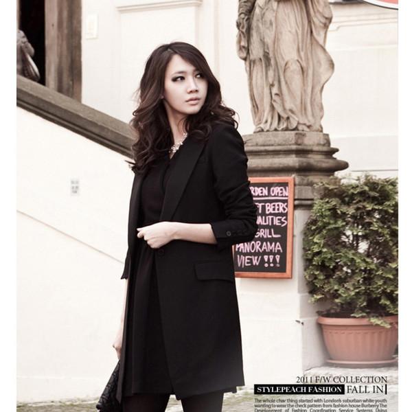 Compre Tallas Grandes 5XL Blazer Negro Blazers Y Chaquetas De Mujer Ropa De Marca Traje Damas Blaizer Mujer 2019 A $61.21 Del Edward03 | DHgate.Com