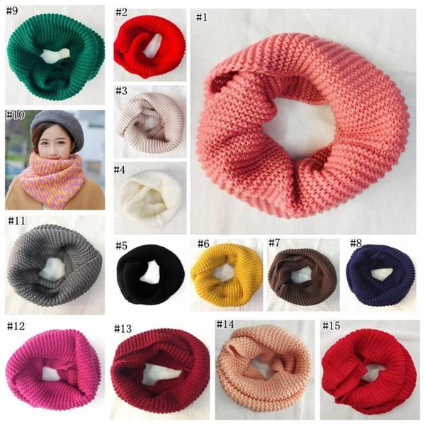 Winter warme Schal stricken Schals Frauen große Mädchen Mode Wolle Schal Kaschmir Schals Pashmina Schal 15 Farben MMA1291 120pcs