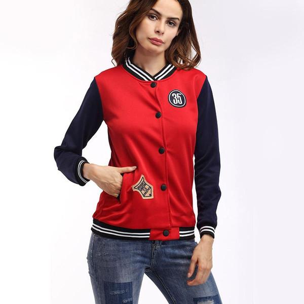 Yeni kadın ilkbahar Sonbahar giyim streetwear rahat ceket hip hop ceket ve mont MA1 bombacı Koyu Mavi Ceket Giyim