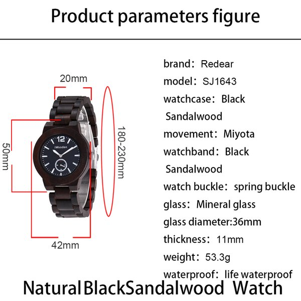High-quality brand fashion ebony retro watches Wooden watches All personality styles of watches can be customized welcome to consult