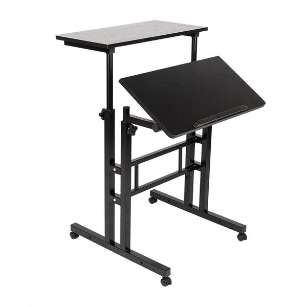 2019 metal mobile computer desk height adjustable stand up desk rh m dhgate com