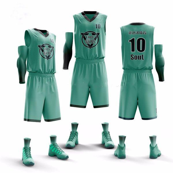 2019 nuova maglia da allenamento da basket per uomo da uomo imposta tute da basket da college vuote stampate con kit sport da squadra