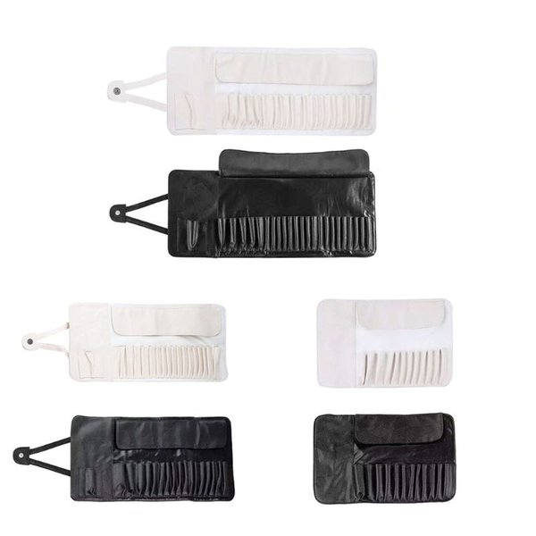 Fashion New Men Women 12/18/24 Slots Brushes Holder Bag Cosmetic Makeup Brushes Container Case Holder Roll Storage Pouch