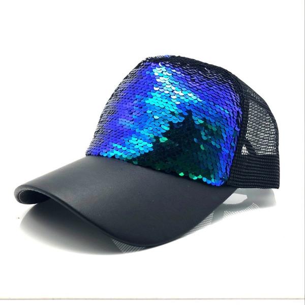 Summer Women Baseball Caps Sequins Mesh Cap Adjustable Fashion Hats Snapback Sports Floral Paillette Adjustable Summer Gorras