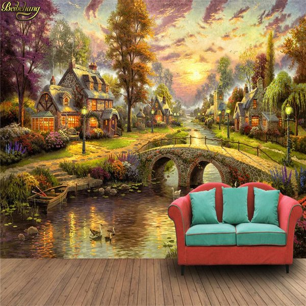 countryside forest hut p wallpaper custom 3d wall mural boy kid interior bedroom wall papers home decor sticker