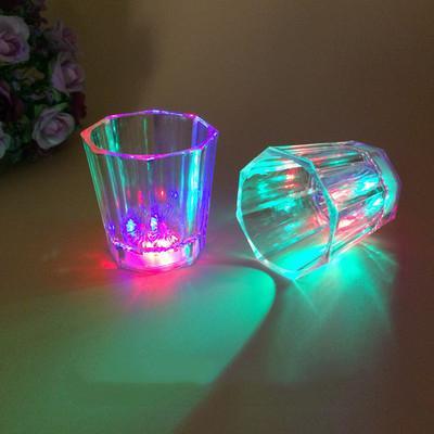 top popular DHL Liquid Activated LED Shot Glasses Multicolor Wine Glass Fun Light Up Shots 2 oz tumbler creative 2021